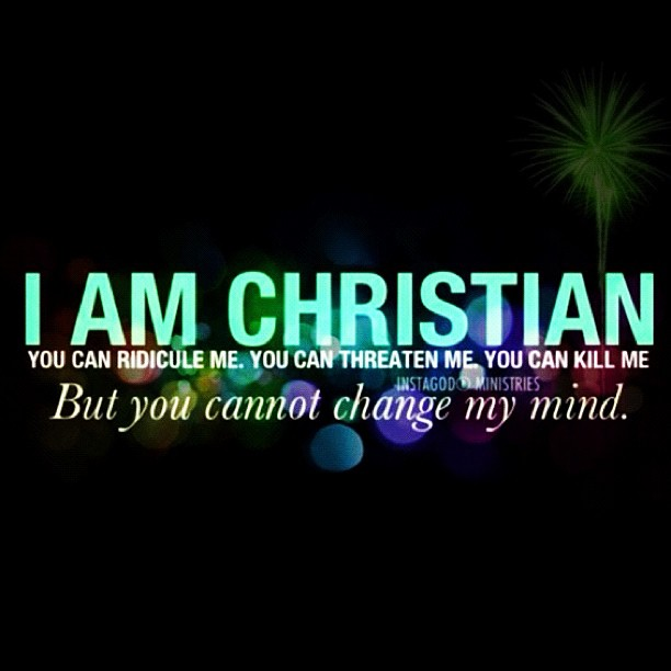 i am Christian. to die is to gain...